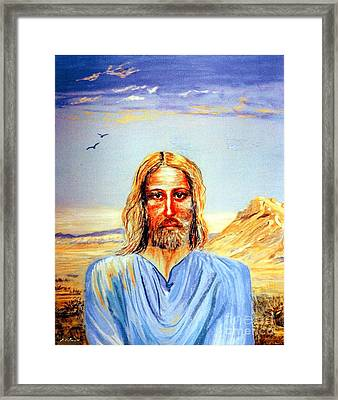 Jesus Framed Print by Jane Small