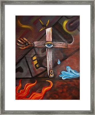 Jesus Framed Print by Laura Barbosa