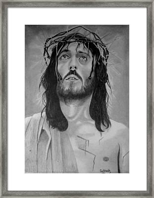Jesus Of Nazareth Framed Print by Subhash Mathew