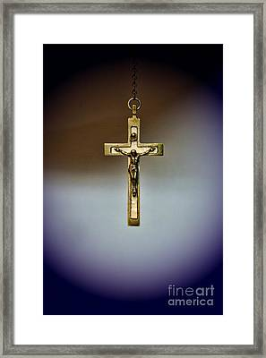 Jesus On The Cross 2 Framed Print by Paul Ward