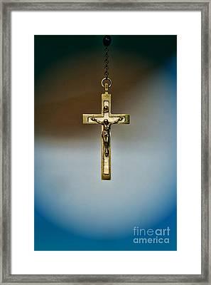 Jesus On The Cross 4 Framed Print by Paul Ward