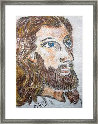 Jesus Our Saviour Framed Print by Kathy Marrs Chandler