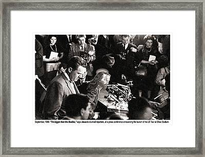 Jesus Press Conference 1966 Framed Print by Tony Rubino