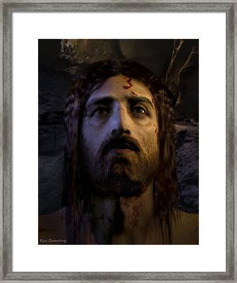 Jesus Resurrected Framed Print by Ray Downing