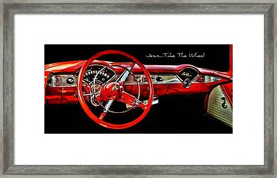 Jesus Take The Wheel Framed Print by Victor Montgomery