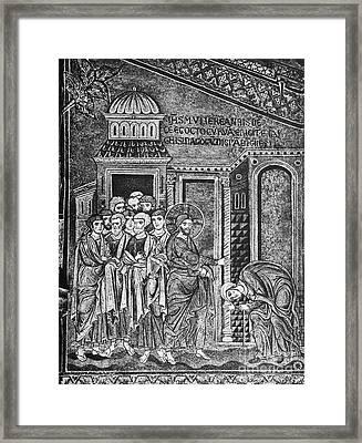 Jesus The Healer, 12th Century Framed Print by Spl