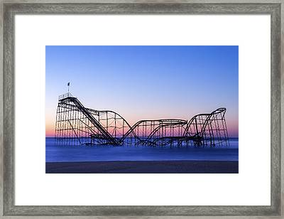 Jet Star Coaster Framed Print by Rob Rauchwerger