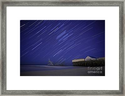 Jet Star Trails Framed Print by Amanda Stevens