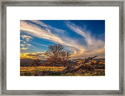 Jet Stream Framed Print by Marc Crumpler