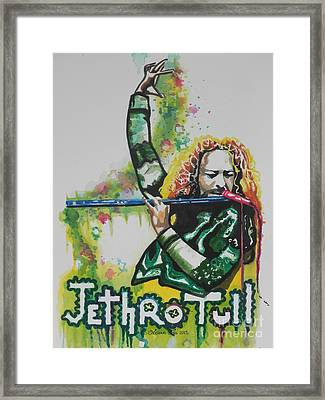 Jethro Tull Framed Print by Chrisann Ellis