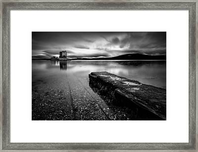 Jetty To Castle Stalker Framed Print by Dave Bowman