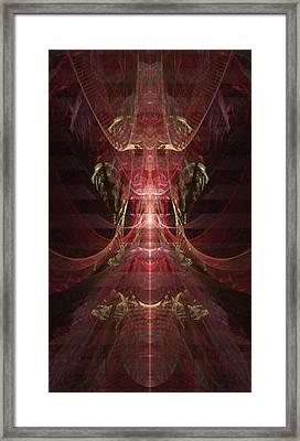 Jewel Beetle - A Fractal Design Framed Print by Gina Lee Manley