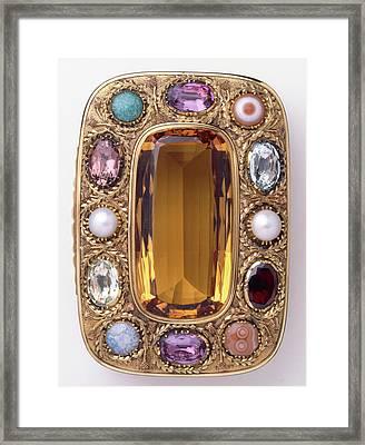 Jewel-encrusted Box Framed Print by Dorling Kindersley/uig