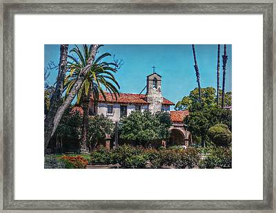 Jewel Of The Missions Framed Print by Hanny Heim