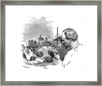 Jeweller At Work Framed Print by Science Photo Library