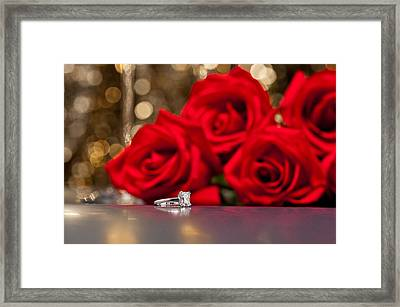 Jewelry And Roses Framed Print by Ulrich Schade