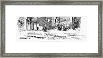 Jewish Cemetery, 1891 Framed Print by Granger