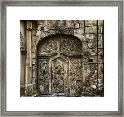 Jewish Quarter Doorway Framed Print by Joan Carroll