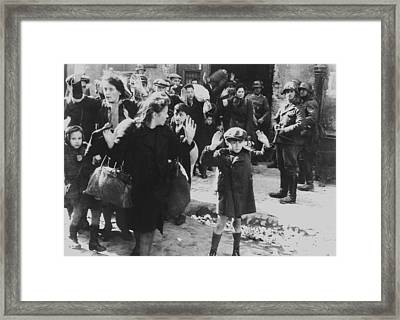 Jews Captured By German Soldiers Framed Print by Everett