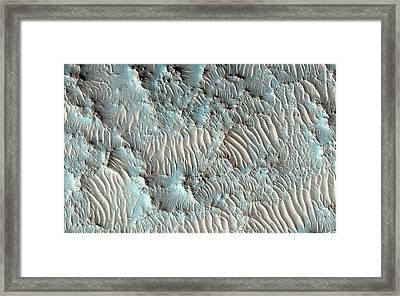 Jezero Crater Framed Print by Nasa/jpl-caltech/university Of Arizona