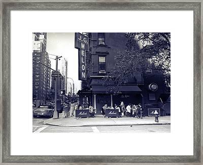J.g. Melon - Manhattan  Framed Print by Madeline Ellis