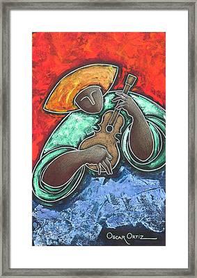 Jibaro Encendi'o Framed Print by Oscar Ortiz