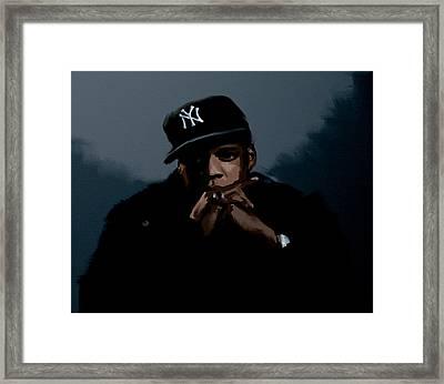 Jiggaman Jay Z Framed Print by Brian Reaves