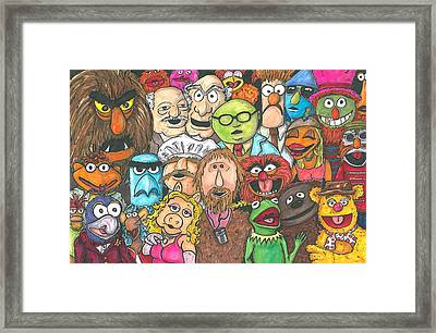 Jim And Friends Framed Print by Andy Driscoll