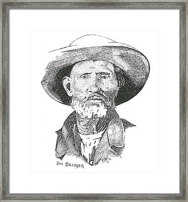 Jim Bridger Framed Print by Clayton Cannaday