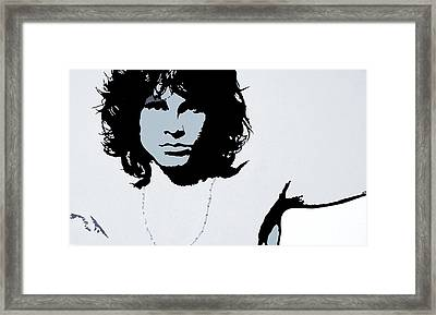 Jim Morrison Framed Print by Bryan Dubreuiel