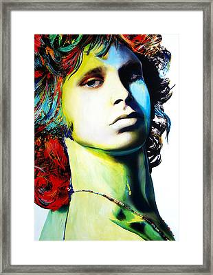 Jim Morrison Framed Print by Isabel Salvador