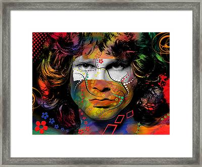 Jim Morrison Framed Print by Mark Ashkenazi