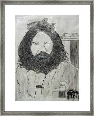 Jim Morrison Pencil Framed Print by Jimi Bush