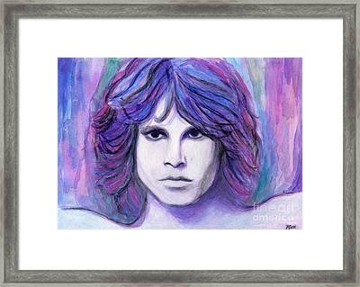 Jim Morrison Framed Print by Roz Abellera Art