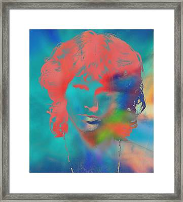 Jim Morrison Tie Dye Framed Print by Dan Sproul