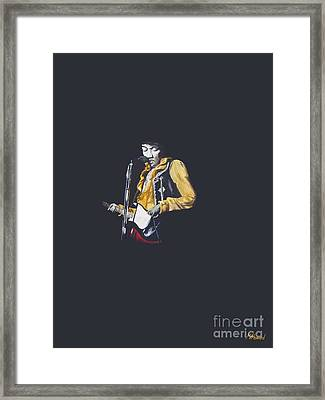Jimi At Monterey 1 Framed Print by Martin Howard
