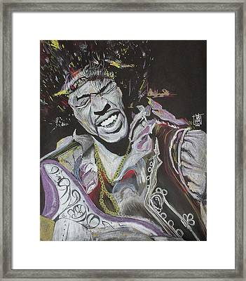 Jimi Framed Print by DMo Herr