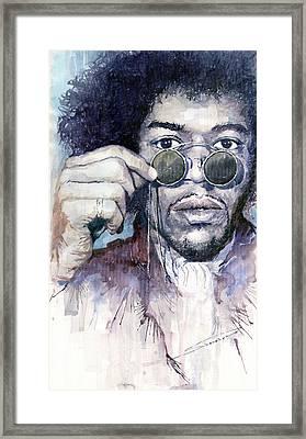 Jimi Hendrix 08 Framed Print by Yuriy  Shevchuk