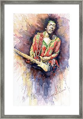 Jimi Hendrix 09 Framed Print by Yuriy  Shevchuk