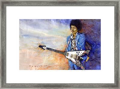 Jimi Hendrix 10 Framed Print by Yuriy Shevchuk