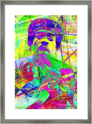 Jimi Hendrix 20130613 Framed Print by Wingsdomain Art and Photography