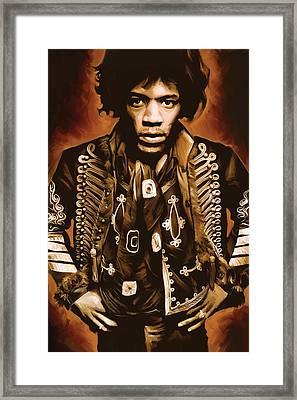 Jimi Hendrix Artwork Framed Print by Sheraz A