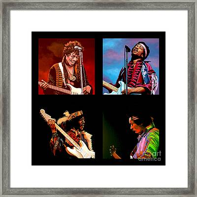 Jimi Hendrix Collection Framed Print by Paul Meijering