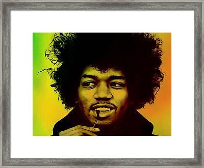 Jimi Hendrix  Framed Print by Dan Sproul