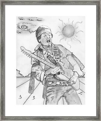 Jimi Hendrix Framed Print by Dan Twyman