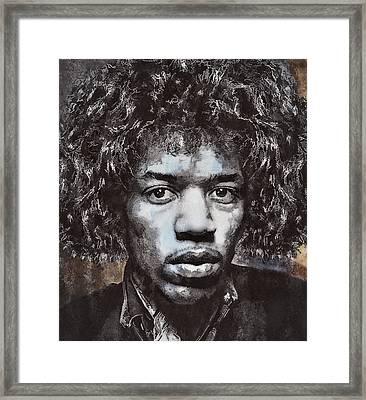 Jimi Hendrix Framed Print by Daniel Hagerman