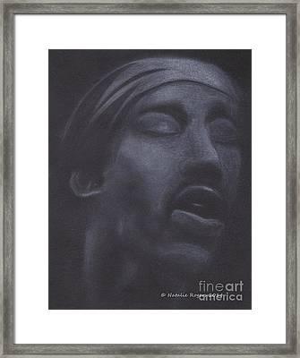 Jimi Hendrix Framed Print by Natalie Rogers