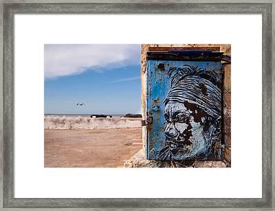Jimi Hendrix On The Beach Framed Print by Daniel Kocian