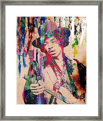Jimi Hendrix Original Framed Print by Ryan Rock Artist