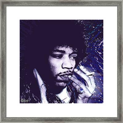 Jimi Hendrix Purple Haze  Framed Print by Tony Rubino